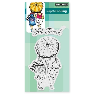 Penny Black FAB FRIENDS Cling Stamp Set 40-429 zoom image