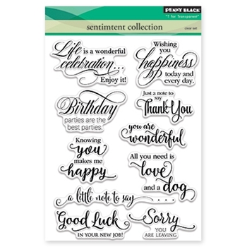 Penny Black SENTIMENT COLLECTION Clear Stamp Set 30-350