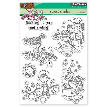 Penny Black SWEET SMILES Clear Stamp Set 30-349