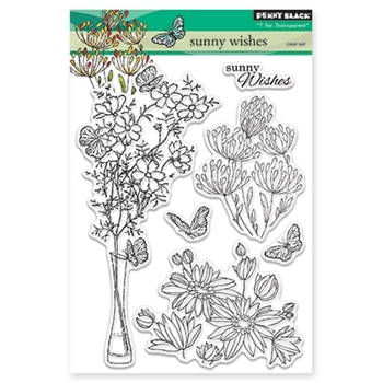 Penny Black SUNNY WISHES Clear Stamp Set 30-344