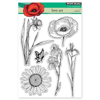 Penny Black LOVE ART Clear Stamp Set 30-342