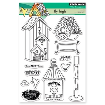 Penny Black FLY HIGH Clear Stamp Set 30-341
