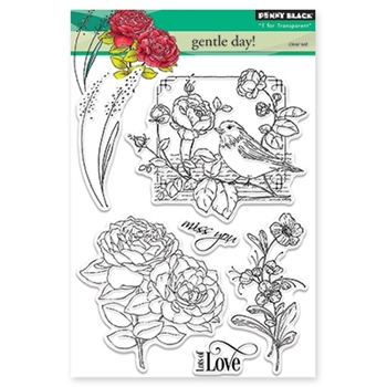 Penny Black GENTLE DAY Clear Stamp Set  30-340
