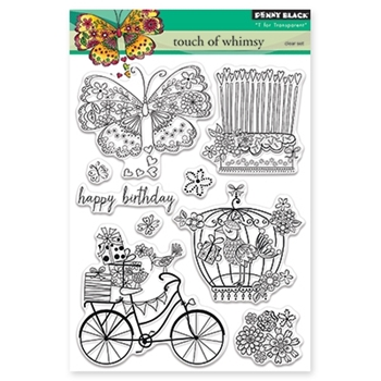 Penny Black TOUCH OF WHIMSY Clear Stamp Set 30-339