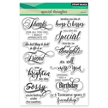 Penny Black SPECIAL THOUGHTS Clear Stamp Set 30-338