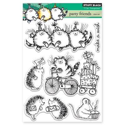 Penny Black PARTY FRIENDS Clear Stamp Set 30-337 Preview Image