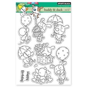 Penny Black BUDDY AND DUCK Clear Stamp Set 30-336