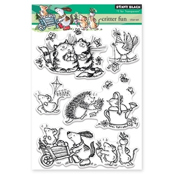 Penny Black CRITTER FUN Clear Stamp Set 30-335