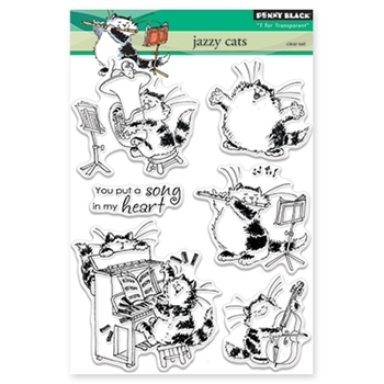 Penny Black JAZZY CATS Clear Stamp Set 30-333