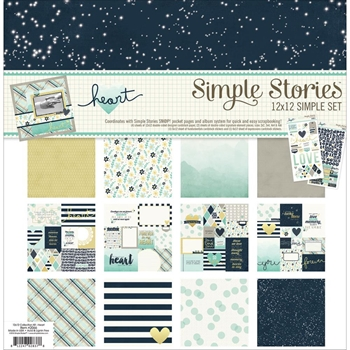 Simple Stories HEART 12 x 12 Collection Kit 2066