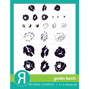Reverse Confetti GARDEN BUNCH Clear Stamp Set