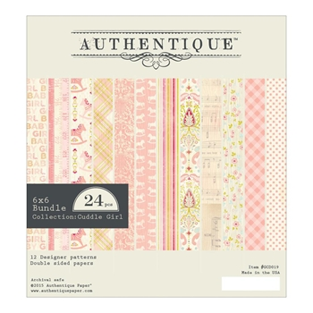Authentique 6 x 6 CUDDLE GIRL Paper Pad GCD019