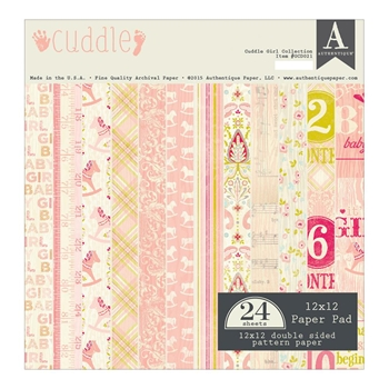Authentique CUDDLE GIRL 12 x 12 Paper Pad GCD021