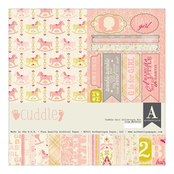 Authentique CUDDLE GIRL 12 x 12 Collection Kit GCD020