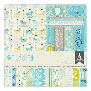 Authentique CUDDLE BOY 12 x 12 Collection Kit BCD020