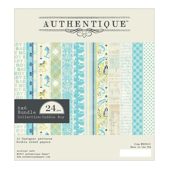 Authentique 6 x 6 CUDDLE BOY Paper Pad BCD019