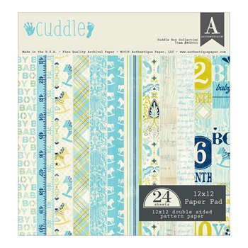 Authentique CUDDLE BOY 12 x 12 Paper Pad BCD021