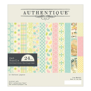 Authentique 6 x 6 SPRINGTIME Paper Pad EAS009