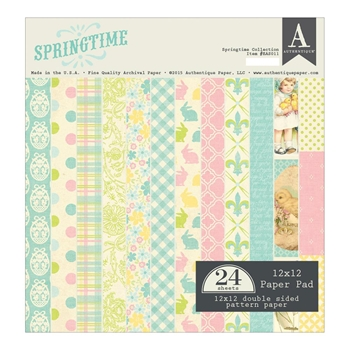 Authentique SPRINGTIME 12 x 12 Paper Pad EAS011