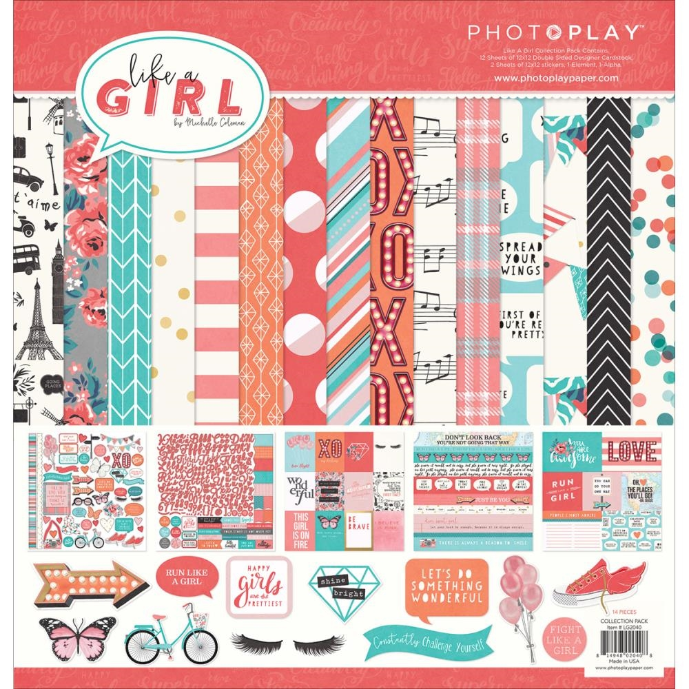 PhotoPlay LIKE A GIRL 12 x 12 Collection Pack LG2040* zoom image