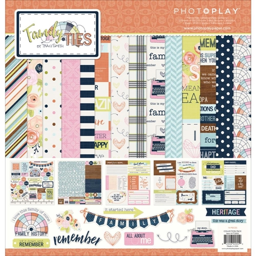 PhotoPlay FAMILY TIES 12 x 12 Collection Pack FT2055 Preview Image