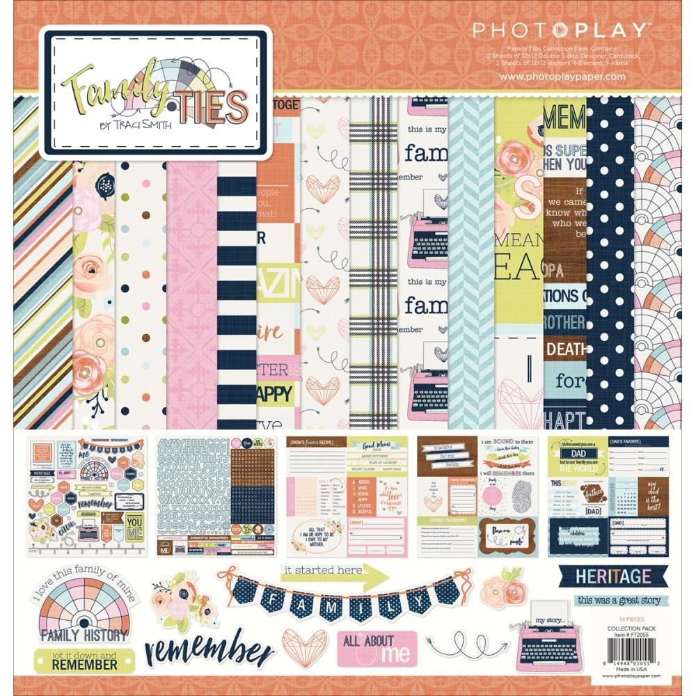 PhotoPlay FAMILY TIES 12 x 12 Collection Pack FT2055 zoom image