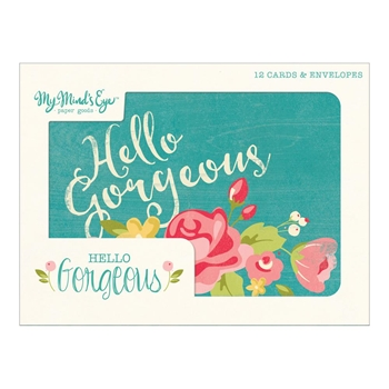 My Mind's Eye HELLO GORGEOUS Greeting Card Set HG1015