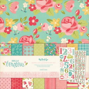 My Mind's Eye HELLO GORGEOUS 12 x 12 Paper And Accessories Kit HG1014
