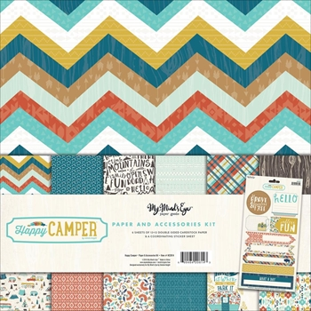 My Mind's Eye HAPPY CAMPER 12 x 12 Paper And Accessories Kit HC1014