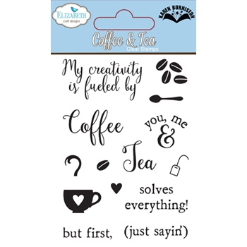 Elizabeth Craft Designs Clear Stamps COFFEE AND TEA CS010