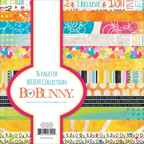 BoBunny 6 x 6 BELIEVE Paper Pad 19217299 Preview Image