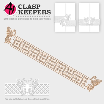 Art Impressions BUTTERLY CLASP Die Clasp Keepers 4748