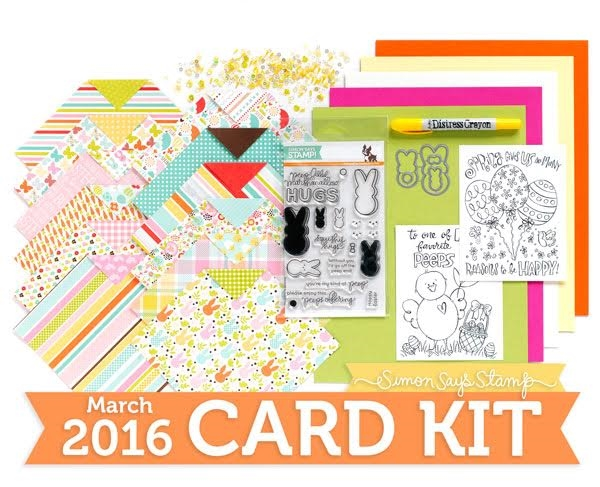 Simon Says Stamp Card Kit of the Month MARCH 2016 FAVORITE PEEPS CK316 zoom image