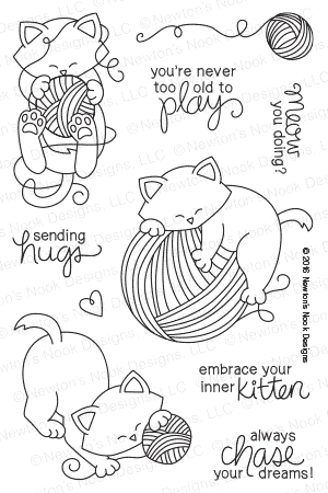 Newton's Nook Designs NEWTON UNWINDS Clear Stamp Set 20160201 zoom image