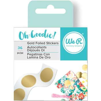 We R Memory Keepers OH GOODIE GOLD STARBURST Foiled Stickers 660228