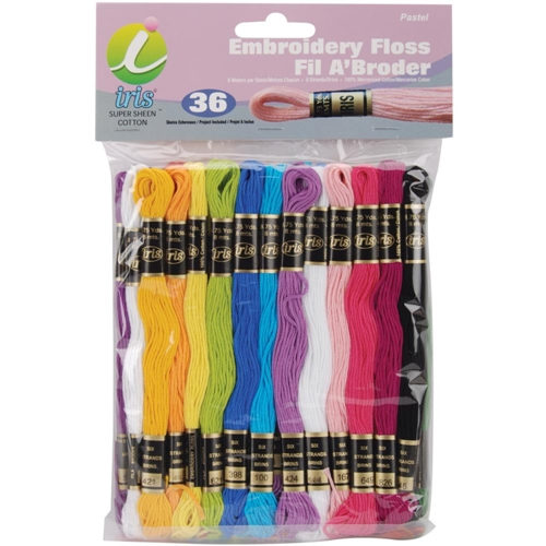 Iris Embroidery Floss Pack PASTEL COLORS 1255 Preview Image