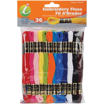 Iris Embroidery Floss Pack PRIMARY COLORS 1250