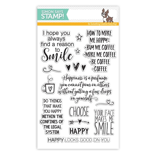 Simon Says Clear Stamps CHOOSE HAPPY SSS101617 Reason To Smile Preview Image
