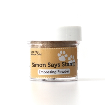 Simon Says Stamp EMBOSSING POWDER ANTIQUE GOLD Ultra Fine Detail AGoldEP6 Reason To Smile