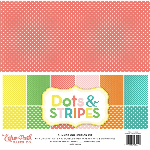 Echo Park SUMMER DOTS AND STRIPES 12 x 12 Collection Kit DS16022 Preview Image