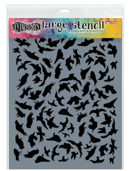 Dyan Reaveley Stencil 9 x 12 BREEZE OF BIRDS Dylusions DYS49777