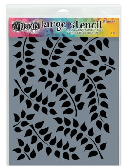 Dyan Reaveley Stencil 9 x 12 FRONDS OF FOLIAGE Dylusions DYS49784