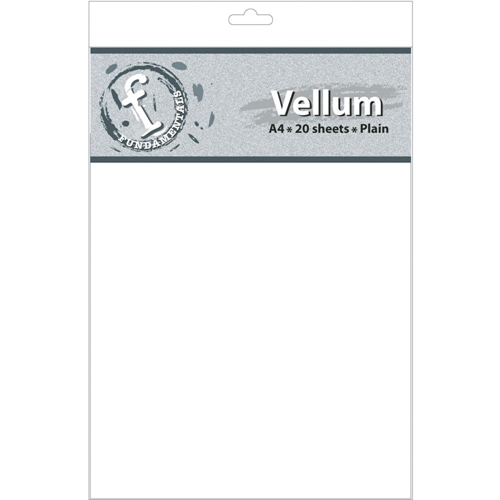 Fundamentals A4 PLAIN VELLUM SHEETS Pack FV63 Preview Image