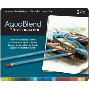 Crafter's Companion NATURALS Spectrum Noir AquaBlend Watercolour Pencils SPECABNAT24