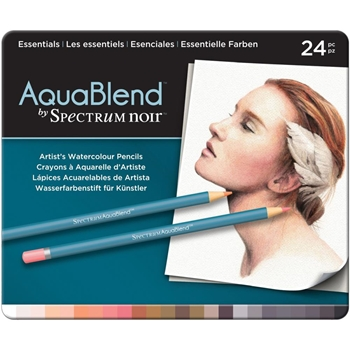 Crafter's Companion ESSENTIALS Spectrum Noir AquaBlend Watercolour Pencils SPECABESS24