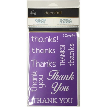 Therm O Web THANKS Deco Foil iCraft Stencil 5503