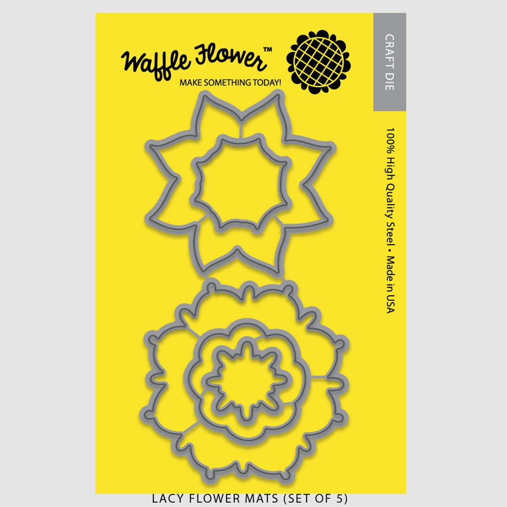 Waffle Flower LACY FLOWER MATS Die Set 310056 zoom image