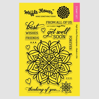 Waffle Flower LACY FLOWER Clear Stamp Set 271057