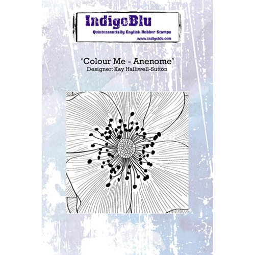 IndigoBlu Cling Stamp COLOUR ME ANENOME Rubber IND0242 Preview Image