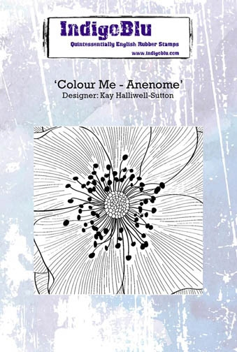 IndigoBlu Cling Stamp COLOUR ME ANENOME Rubber IND0242 zoom image